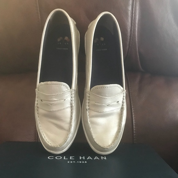 ef70e17612d Cole Haan Shoes - Women s Cole Haan Nantucket loafer in soft silver